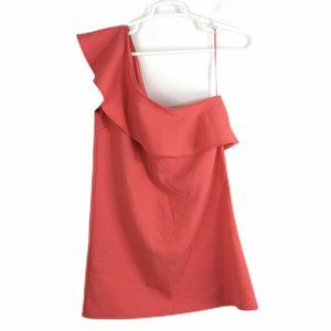 Cupcakes And Cashmere One Shoulder Ruffle Dress